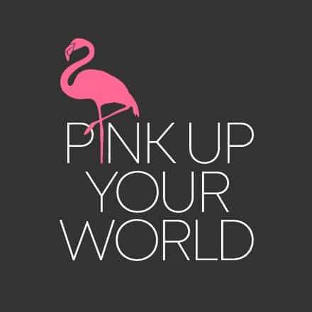 Pink Up Your World Alternatives Logo mit Hintergrund in anthrazit
