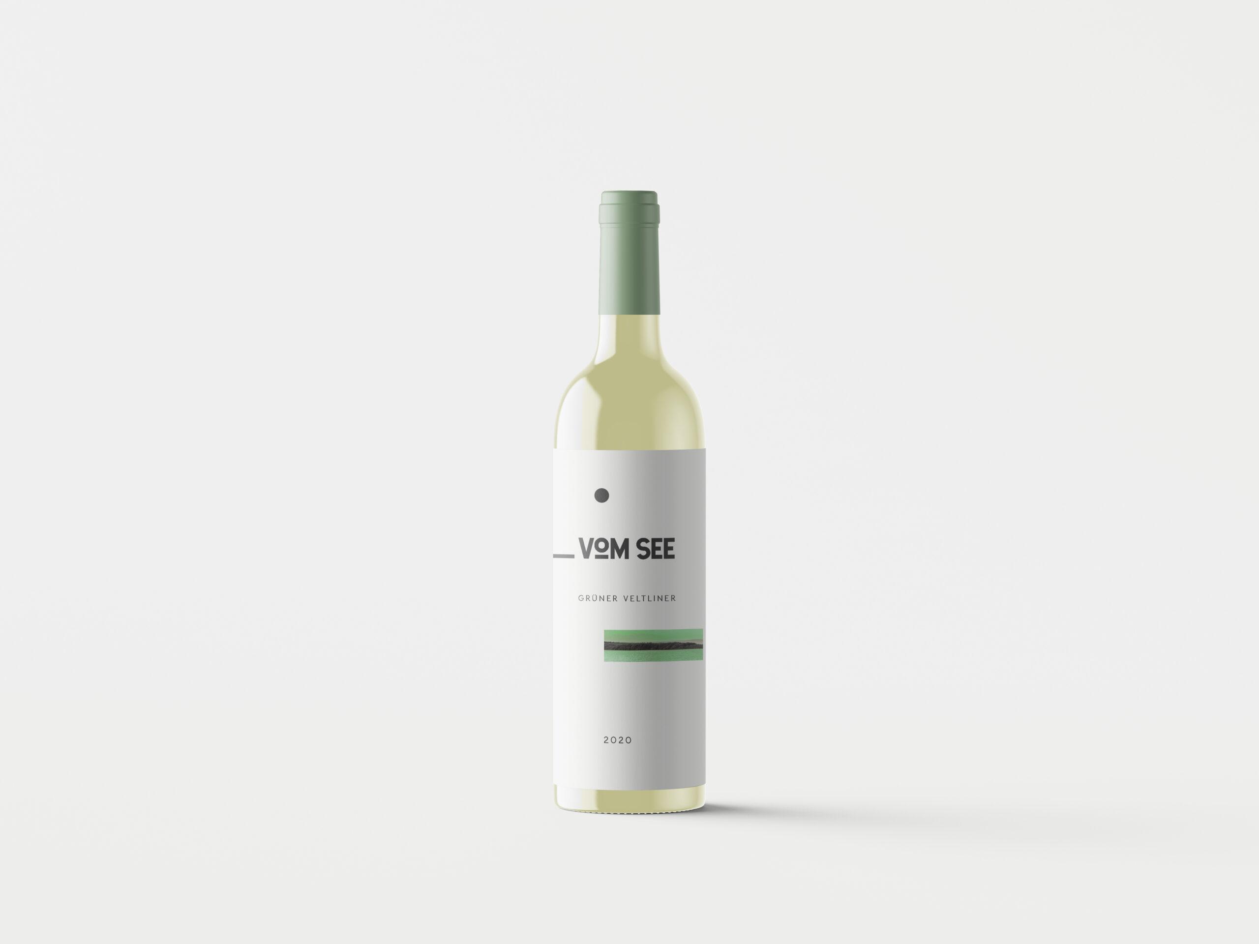 Etiketten Gestaltung Grüner Veltliner